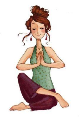 Woman Yoga drawing