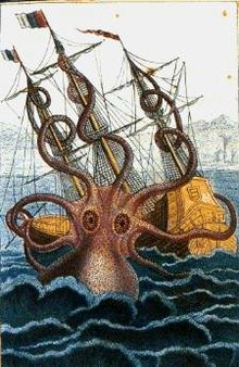 Colossal Octopus by Pierre Denys de Montfort, 1801